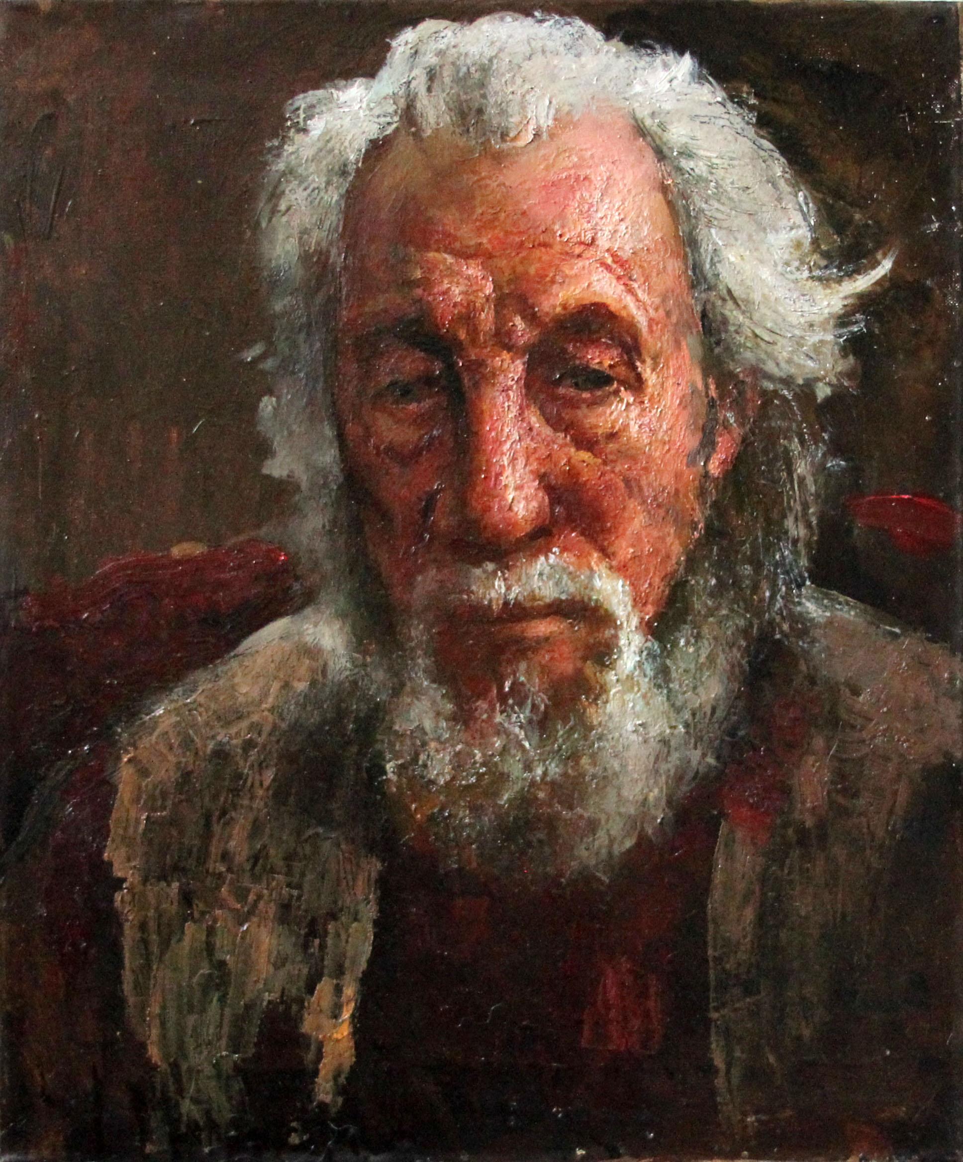 Портрет заслуженного художника России Воронцова Д.А., 60х50, 2012г, холст, масло