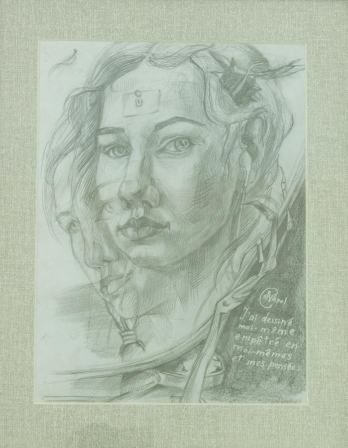 Автопортрет, 27х20, 2015г, бумага, карандаш