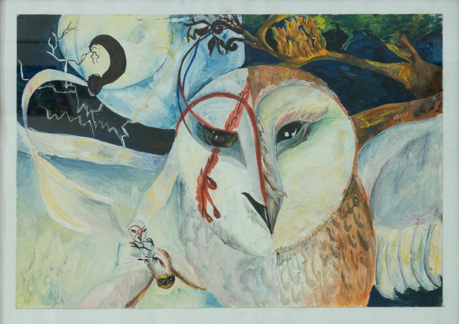 Две луны (иллюстр. к роману К.Ласки «Легенды ночных стражей»), 30х42, 2011г, бумага, гуашь