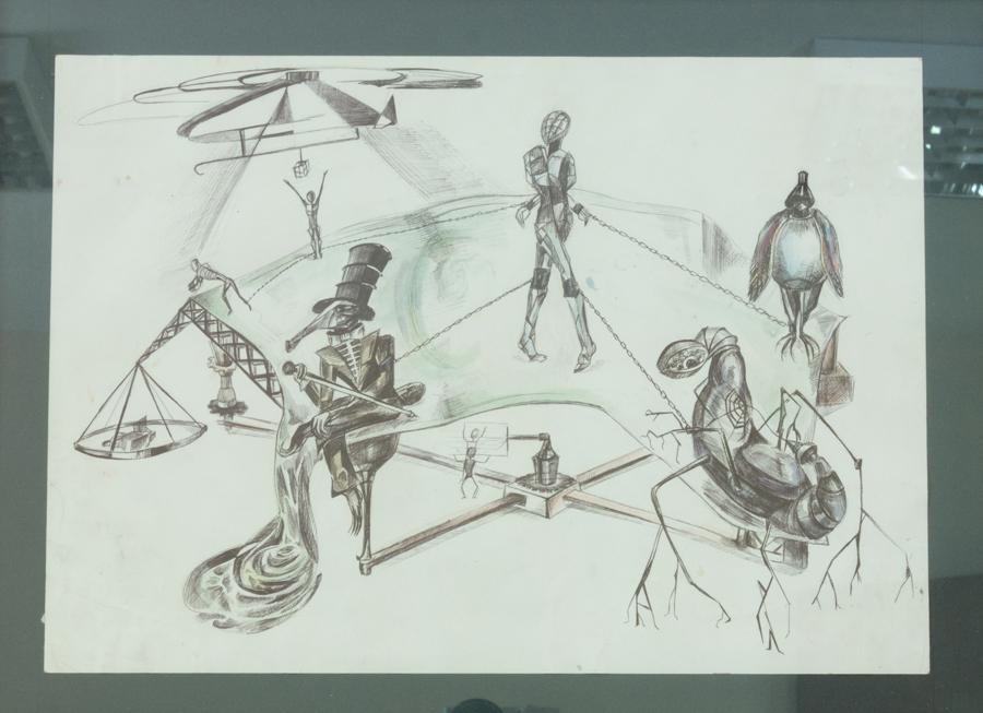 Кандалы, 30х42, 2013г, бумага, граф.материалы