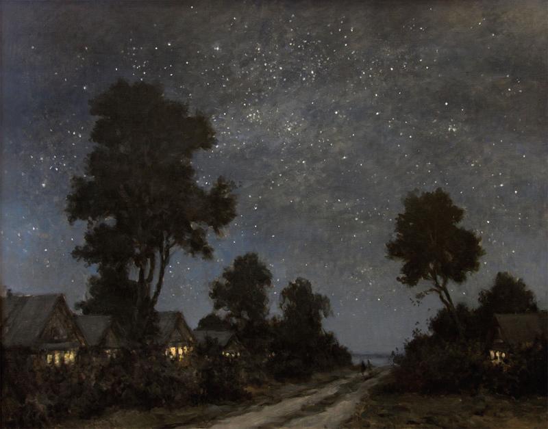 Звездная ночь.Деревня