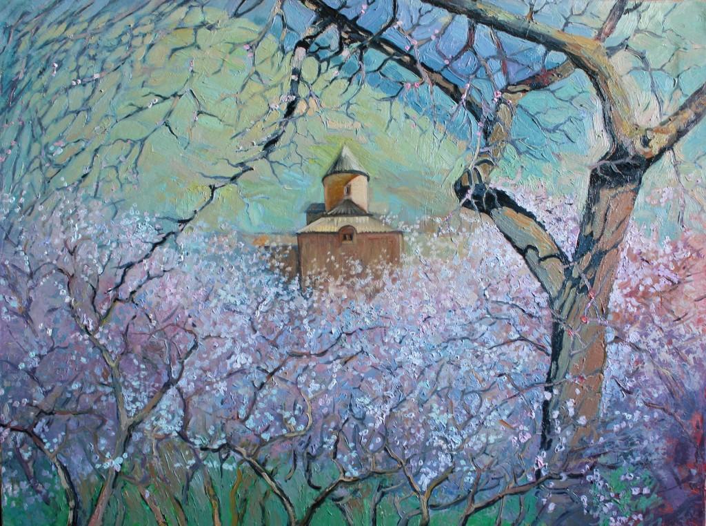 Абрикосовый сад. Холст/масло, 60х80см